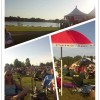 Testing the Photo Grid app at Pops in the Park